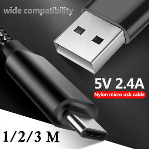 Fast Charging Cable Cord USB-C Type-C 3.1 Nylon Data Charger For Huawei Mate 20