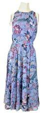 Anthropologie Hermia Midi Dress Blue Motif Size 8, NWT