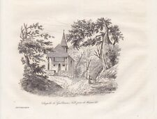 Chapelle de Guillaume Tell Baciami notte Suisse ACCIAIO CHIAVE DI 1835 Tell cappella