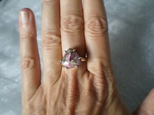 Fusion Tourmaline ring, size P/Q, 7 carats, 4.18 grams of 925 Sterling Silver
