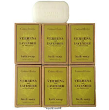 CRABTREE and Evelyn 6 Verbena and Lavender BATH SOAP Bar 1.25 oz ea (210g total)