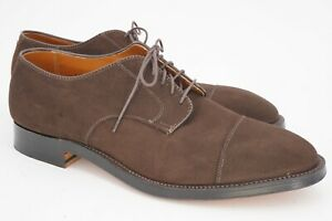 NEW WITH BOX   ALDEN 11.5 D BROWN SUEDE CAP TOE LEATHER OUTSOLE SNAP LAST