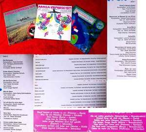 3 Langspielplatten Amiga Express 1970 - 1972 - Vinylsammlung -