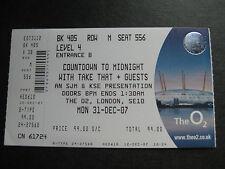 Take That O2 London 31/12/2007 unbenutzt Ticket
