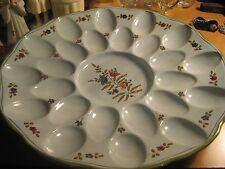 Vintage Italy Italian 24 Egg Holder Dish Plate Server