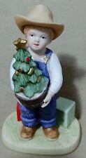 "Home Interior Denim Days figurine #1523 ""Christmas Surprise"" 1993 Danny"