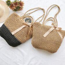 Straw Weave Shoulder Shopping Bag Lady