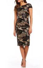 Dress The Population Marcella Sequin Velvet Midi Dress, Black/Bronze~Small