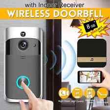 Wifi Smart Video Doorbell Intercom PIR Detection Camera Night Vision