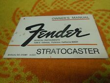 Original 1974 Fender Stratocaster Owner's Manual with Warranty Card - Case Candy