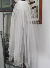 TWO TIER BRIDAL VEIL, FLUTED EDGE, WHITE or  IVORY COLOUR CHOICES, NEW,AUSTRALIA