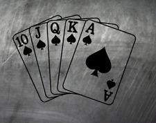 Karten Royalflush Aufkleber Auto Sticker Tuning JDM Schocker  Aces Poker card