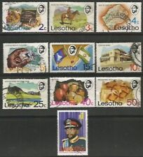 LESOTHO 1976 DEFINITIVE SET Sc#199-208 COMPLETE VFU SET 1160