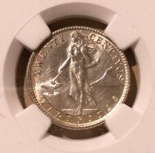 1944 D USA - Philippines 20 Centavos NGC UNC DETAILS CLEANED - Silver
