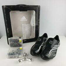 ADIDAS +F50.6 Tunit Football Boots UK 6 Boxes with New Studs Black/ White