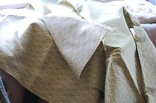 OLIVE/BROWN PATTERNED UPHOLSTERY FABRIC.2metre 50cms X 136 cms wide  PACK 575
