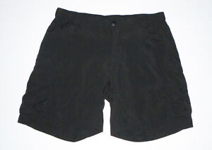 """The NORTH FACE Outdoor Hiking Shorts BLACK Nylon 7"""" Cargo Womens NEW Sz 4 Long L"""