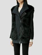 Bnwt allsaints ANAIA Biker jacket.coat.teal.uk 14(fits 16) £395.faux fur.*OFFER*
