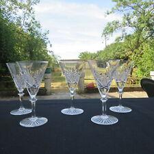 5 verres a vin rouge en cristal de val saint Lambert modèle eurydice H 15,5 cm