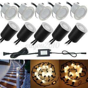 16Pcs 31mm LED Stair Deck Light Floor Patio Light Outdoor Garden Step