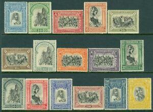 EDW1949SELL : PORTUGAL 1928 Scott #437-52 Very Fine, Mint Original Gum. Cat $99.