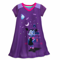 Disney Store Vampirina Nightshirt Pajamas PJ's for Girls Size 2 3 4 5/6 7/8 9/10