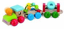 Eichhorn Colourful WOODEN TRAIN Toy 30cm High Quality Wood - New