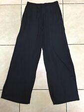 H&M Womens Wide Loose Jacquard Weave Trousers Size 10 Uk BNWT RRP £28.98 Black