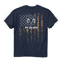 Dodge RAM Trucks Full Camouflage American Flag USA Patriot Men's Tee Shirt 2562