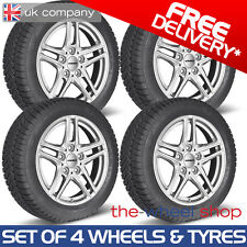 "17"" BMW 1 Series 2004 - 2011 Borbet Silver Wheels & Goodyear Winter Tyres"