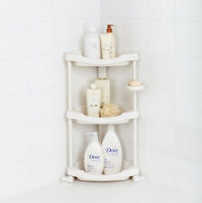 Bathroom Corner Shelf Stand 3Tier 3Layers Storage Sundries Rack PVC