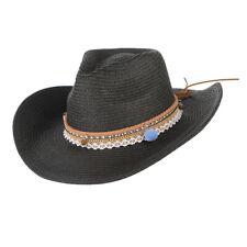 Cappello Da Sole Donna Paglia Cappello da Cowboy a Tesa Larga, 5 Colori