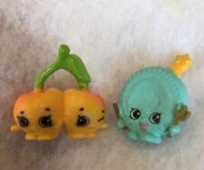 Shopkins Season 4 Cheeky Cherries Yellow 009 Aqua Blue Party Plate Lot