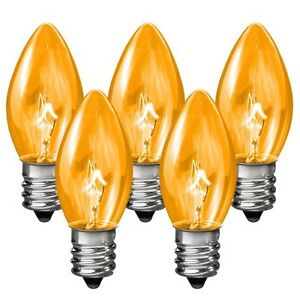 25 C7 Orange Transparent Replacement Christmas Bulbs Party Holiday Wedding