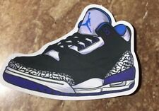 "Nike Air Jordan Retro 3 III ""Sport Blue"" Black/Sport Blue-Wolf Grey Sticker"
