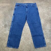 DICKIES - Mens Straight Relaxed Stonewashed Blue Carpenter Jeans, Sz 42 W x 32 L