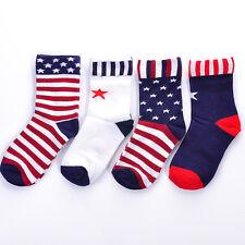 Fashion American Stars Stripes Flag Men's USA Cotton Socks Old Glory Casual Crew