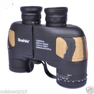 Waterproof Floating Binocular 10x50 Navy Telescope with Rangefinder Reticle