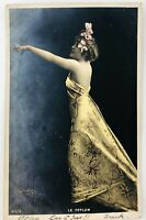 Vintage Edwardian Glamour Model Postcard from France Le Peplum 1904