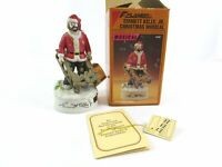 Vintage Flambro Emmett Kelly Jr Musical Christmas Clown Figure Jingle Bells 9690