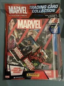 Panini Marvel Trading Cards Starter Pack Plus Limited Editon Card