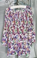 NEW Plus Size 2X Purple Pink Blouse Floral Spense Top Shirt