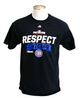 Majestic MLB Chicago Cubs Black Respect Short Sleeve Tee T Shirt Men's  NWT