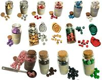 JAR of 60 Wax Beads, Wax Stamp Sealing Beads In Glass Jars, Letter Seal Weddings