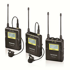 Saramonic UHF Wireless Lavalier Microphone System 2 TX & 1 Rx for DSLR Camcorder