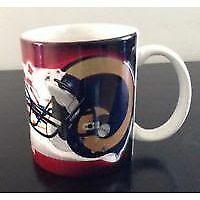 New England Patriots Coffee Mug / St Louis Rams Super Bowl XXXVI