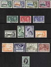 Cayman Is 1935-1953 commemoratives SG 108-162 Scott 81-150 VFU Cat £57($96)