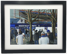 More details for wakefield trinity. high quality framed rugby league art print. approx a4
