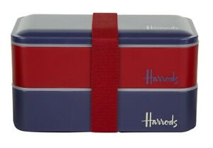 Harrods LunchBox Lunch Box Bento Box Office Xmas Gift Cutlery Japan Style NEW!