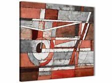 Red Grey Painting Bathroom Canvas Wall Accessories - Abstract 1s401s - 49cm